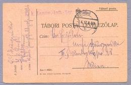 Hungary Ungarn 1917 WWI Feldpost Tabori Postai Levelezőlap Tabori Posta - Covers & Documents