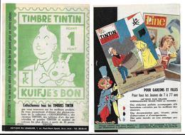 1958 Timbre Tintin Géant (15 X 10,5 Cm) Au Verso Pub Tintin Expo 58 Et Line , Peu Courant Chromos Tintin - Objets Publicitaires