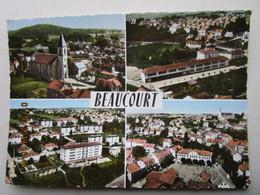 CP 90 BEAUCOURT  - Multivue  Ter. De Belfort  , La Ville  1969 - Beaucourt