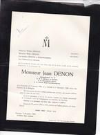 LOUVAIN LEUVEN Jean DENON 1904-1960. Chocolaterie ETNA Belgo-Luxembourgeoise Famille KEMPENEERS - Obituary Notices