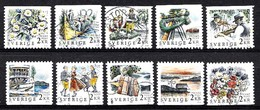 Suède 1988 Mi.Nr.: 1482-1491 Mittsommernachtfest  Oblitérés / Used / Gestempeld - Sweden