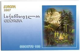 Georgia.2008 EUROPA 2007. Scouts. Booklet Of 8 (4 Sets)  Michel # 551-52 MH - Georgien