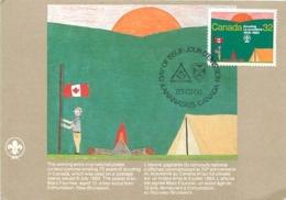 Canada Scouting Scoutisme 1908 1983 Jamboree   Carte Maximum Card CM - Maximumkaarten