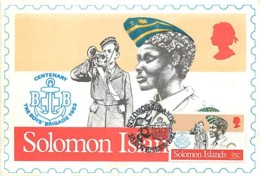 Solomon Islands Centenary Boy's Brigade 1983   Carte Maximum Card CM - Salomon (Iles 1978-...)