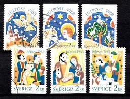 Suède 1988 Mi.Nr.: 1510-1515 Weihnachten  Oblitérés / Used / Gestempeld - Usados