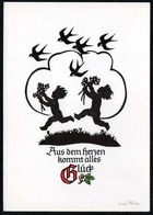 C1613 - TOP Georg Plischke Glückwunschkarte - Klaus Pfleumer Zittau - Silhouettes