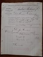 Ancienne Facture. Extrait D'Absinthe Suisse Et Vermouth. André Rohrer. Charenton Et Beaucaire. 1890 - France