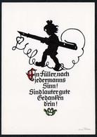 C1615 - TOP Georg Plischke Scherenschnitt Glückwunschkarte - Klaus Pfleumer Zittau - Silhouettes