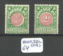 NOUV ZEL (GB) YT Taxe 20/21 En X - Postage Due