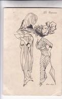 LES ENTRAVEES. XAVIER SAGER ILLUSTRATION. COMIQUES HUMOUR CIRCA 1910s KF PARIS - BLEUP - Sager, Xavier