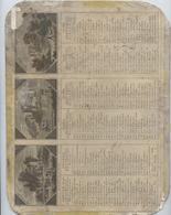 Calendrier De 1826 à Paris Chez Louis Janet, Illustrations Couleurs ,La Rochelle,Blerencourt, Château  Du Guesclin - Calendriers