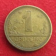 Brazil 1 Cruzeiro 1943 KM# 558  Brasil Bresil Brasile - Brésil