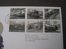 GB FDC 2010  Eisenbahn Train 2989 - 2994 - 2001-2010 Dezimalausgaben