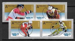 Norvège 2014 N°1790/1793 Oblitérés Luxe Sport: Ski. Jeux Olympiques De Sotchi - Used Stamps