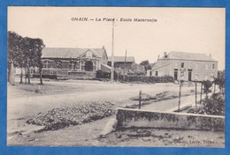 CPA - OHAIN - Place - Ecole Maternelle - RARE - Photographe Leroy à Trélon - Ohne Zuordnung