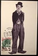 CARTOLINA CHARLIE CHAPLIN - Autres Collections
