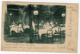 Plzen Pilsen Restaurant Beer Czech Republic Postcard Sent With Stamp - Tchéquie
