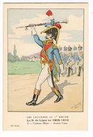 Uniforme.1er Empire. 3e De Ligne Tambour Major 1809/10.Illustrateur. LAVAL. (t.u.66 ) - Uniforms