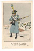 Uniforme.1er Empire. 3e De Ligne.Sergent Voltigeurs 1809/10.Illustrateur. LAVAL. (t.u.70 ) - Uniforms