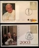 VATICANO 2003 VIAGGI DI GIOVANNI PAOLO II - FDC