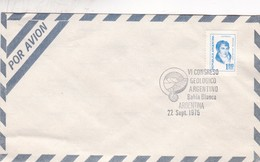VI CONGRESO GEOLOGICO ARGENTINO, BAHIA BLANCA, ARGENTINA 1975 - BLEUP - Airmail