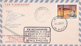 VUELO POR PLANEADOR CIRCUITO TRIANGULAR ARTINEZ DE HOZ FRENCH PEHUAJO ARGENTINA 1971, XX CAMPEONATO VUELO A VELA - BLEUP - Airmail