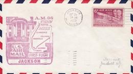 US  AIR MAIL FIRST FLIGT AM 98 TENN  A JACKSON 1950. EE UU - BLEUP - Air Mail