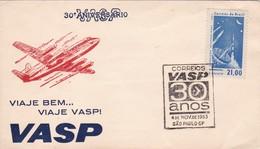 30 ANIVERSARIO VASP. VIAJE BEM, VIAJE VASP! 1963 SAO PAULO, BRASIL - BLEUP - Airmail