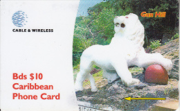 BARBADOS ISL.(GPT) - Gun Hill, CN : 284CBDA, Used - Barbades