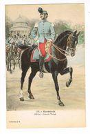 Uniforme.Hussards.Officier.Grande Tenue.Illustrateur Alphonse LALAUZE ( T.u.76) - Uniformen