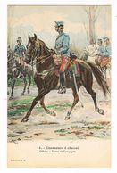 Uniforme.Chasseur à Cheval. Officier . Illustrateur Alphonse LALAUZE ( T.u.78) - Uniformen