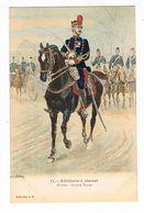 Uniforme. Artillerie à Cheval. Officier .Illustrateur Alphonse LALAUZE ( T.u.80) - Uniformen