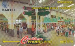 BARBADOS ISL.(GPT) -  Bridgetown Cruise Terminal, CN : 250CBDA, Tirage 49400, Used - Barbados