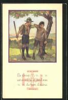 AK La Loi Scoute Le Scout Est économe Et Prend Soin Du Bien D`autrui, Pfadfinder Erwischt Einen Apfeldieb - Scouting