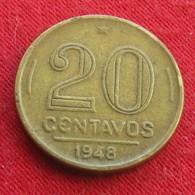 Brazil 20 Centavos 1948 KM# 562 Ruy Barbosa  Brasil Bresil Brasile - Brésil
