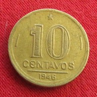 Brazil 10 Centavos 1946 KM# 555a.2  Brasil Bresil Brasile - Brésil