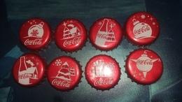 Lot De 8 Capsules Coca Cola Noël - Soda