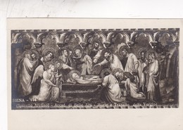 SIENA. SPINELLO ARETINO. ACCAD DI BELLE ARTI, MORTE E TRANSITO DELLA VERGINE. A.TRALDI. ITALIA. CIRCA 1910s - BLEUP - Schilderijen, Gebrandschilderd Glas En Beeldjes