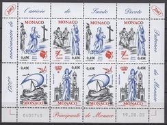 MONACO 2003 - MINI FEUILLE DE 2 SERIES N°2410 A 2413 - 8 TP NEUFS** - Bloques