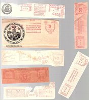 Roodfrankeringen Levensverzekeringsmaatschappijen Jaren '40 (1 Van Jaren 30) (CC-71) - Marcofilie - EMA (Print Machine)