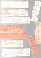 Roodfrankeringen Levensverzekeringsmaatschappijen Jaren '50 (CC-72) - Marcofilie - EMA (Print Machine)
