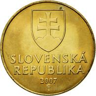 Monnaie, Slovaquie, Koruna, 2007, TTB, Bronze Plated Steel, KM:12 - Slovaquie