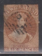 NEW ZEALAND Scott # 9 Used - No Margins,Thin,2 Small Nicks Poor Quality CV $325.00 - 1855-1907 Crown Colony
