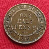 Australia 1/2 Half Penny 1919 - Australie
