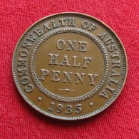 Australia 1/2 Half Penny 1935 - Australie