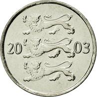 Monnaie, Estonia, 20 Senti, 2003, No Mint, SPL, Nickel Plated Steel, KM:23a - Estonie
