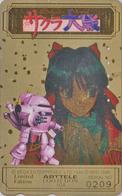Télécarte DOREE Japon / 110-016 - MANGA - SEGA SAKURA WARS - ARTTELE COLLECTION Nr 0209 - Japan GOLD Phonecard  - 10199 - Comics