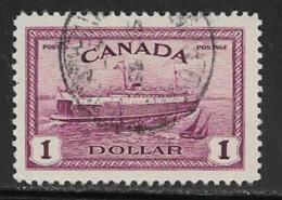 Canada Scott # 273 Used Train Ferry, 1946 - Used Stamps