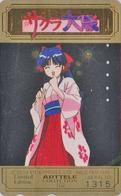 Télécarte DOREE Japon / 110-016 - MANGA - SEGA SAKURA WARS - ARTTELE COLLECTION Nr 1315 - Japan GOLD Phonecard - 10202 - Comics