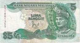 Malasia - Malaysia 5 Ringgit 1989 Pick 28b.1 Ref 3 - Malaysie